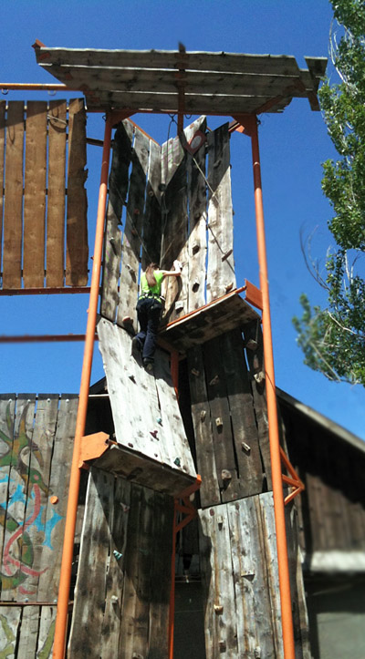 Climbing wall, Yurt camp, Karakol